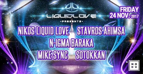 Party Flyer Liquid Love / Friday 24 November 24 Nov '17, 23:59