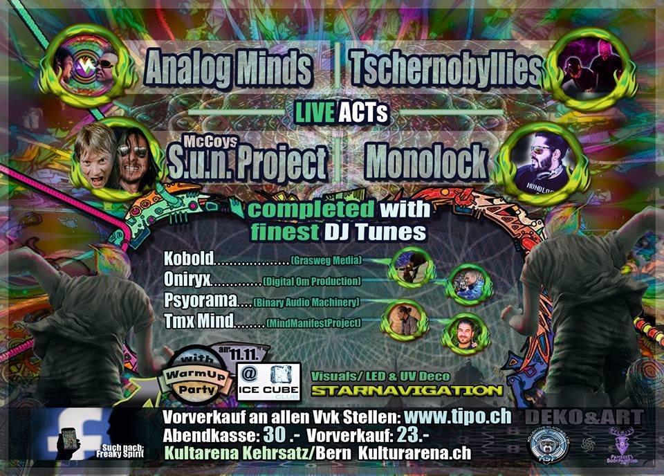 Party Flyer Freaky Spirit BERN 25 Nov '17, 21:00