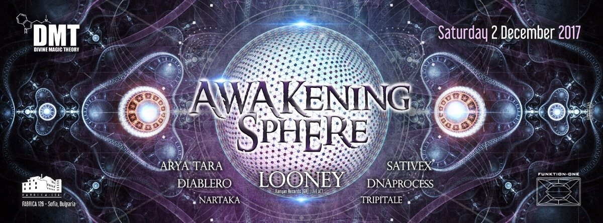 Party Flyer Divine Magic Theory: Awakening Sphere 2 Dec '17, 22:00