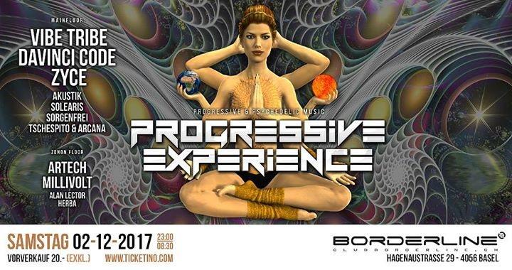 Party Flyer Progressive Experience Vibe Tribe / DaVinci Code / Zyce 2 Dec '17, 23:00