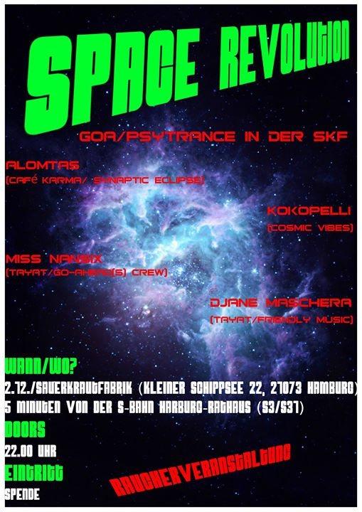 Party Flyer Space Revolution 2 Dec '17, 22:00