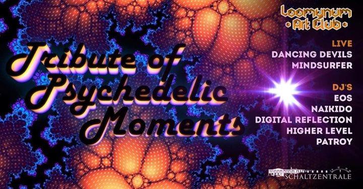 Party Flyer ॐ •:★ Tribute of Psychedelic Moments ★:•ॐ 2 Dec '17, 22:00