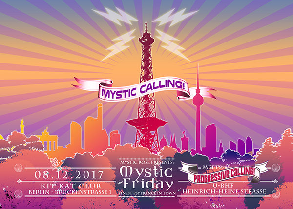 Party Flyer Mystic Friday meets Progressive Calling 8 Dec '17, 23:00
