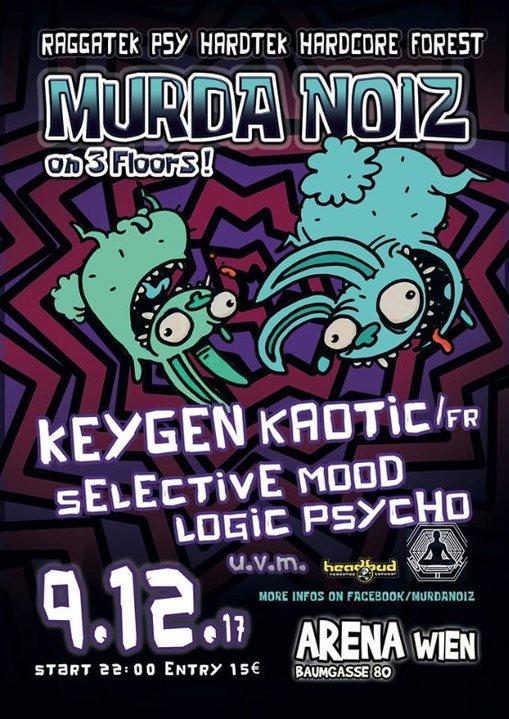 Party Flyer Murda Noiz 9 Dec '17, 22:00