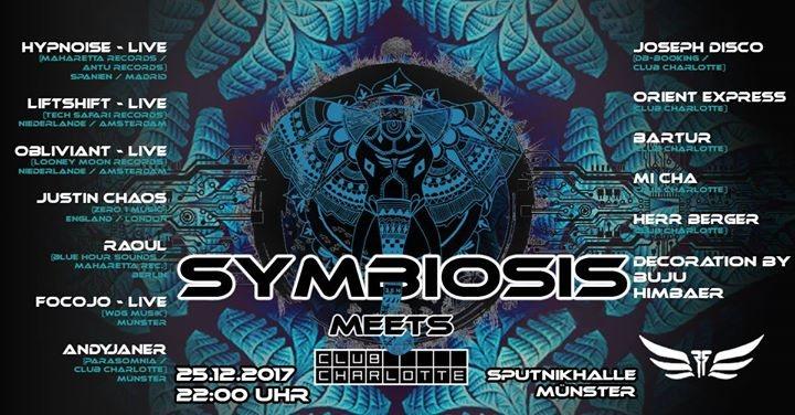 Party Flyer Symbiosis meets Charlotte 25 Dec '17, 22:00
