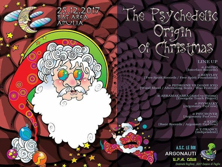Party Flyer ॐ The Psychedelic Origin of Christmas ॐ Psychedelic Trance Party 25 Dec '17, 22:00