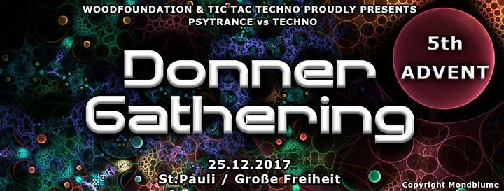 WoodFoundation & TicTacTechno Pres. Donner Gathering 25 Dec '17, 23:00