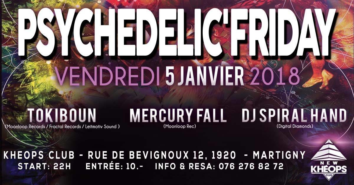 Party Flyer Psychedelic'Friday 5 Jan '18, 22:00