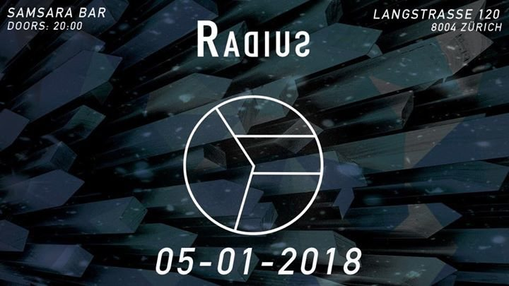 Party Flyer Radius / Dark Techno w: stoertebeker, vanita, marco hess, lino loud 5 Jan '18, 22:00