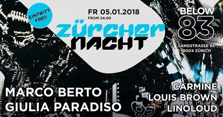 Party Flyer ZÜRCHER NACHT 5 Jan '18, 23:55