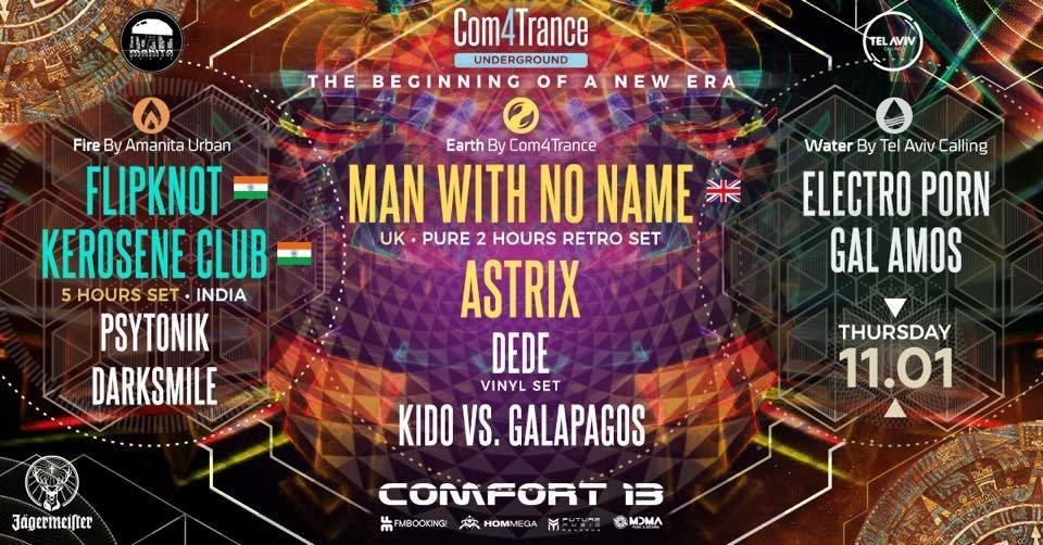 Com4trance Presents: Man With No Name Astrix Flipknot 11.1 11 Jan '18, 01:00