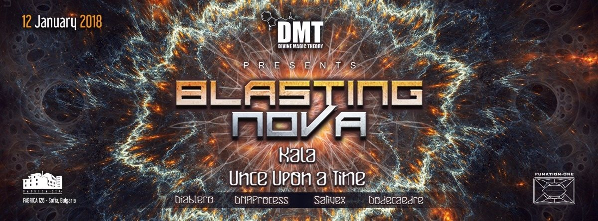 Party Flyer Divine Magic Theory presents: Blasting NOVA 12 Jan '18, 22:00