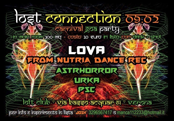 Party Flyer Lost Connection Carnival Goa Party 9 Feb '18, 23:30
