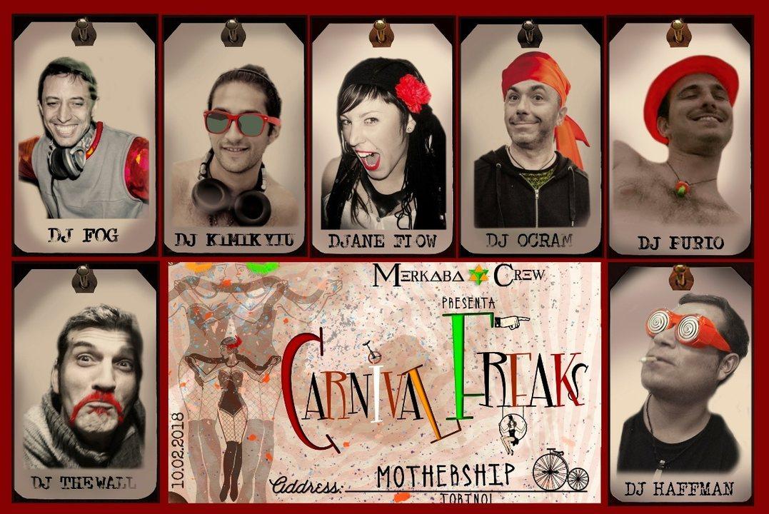 Party Flyer Carnival Freaks 10 Feb '18, 23:00