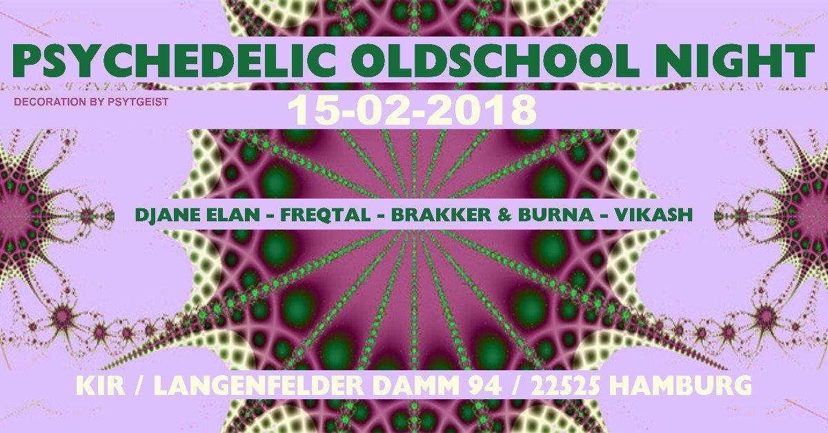 Party Flyer ॐ Psychedelic Oldschool Night ॐ 15 Feb '18, 20:00