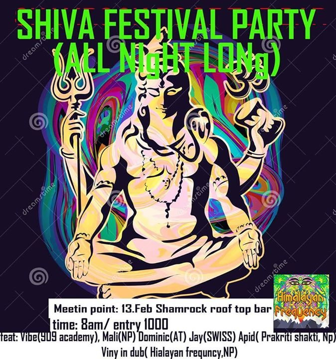 Party Flyer Shiva festival after party 16 Feb '18, 05:00