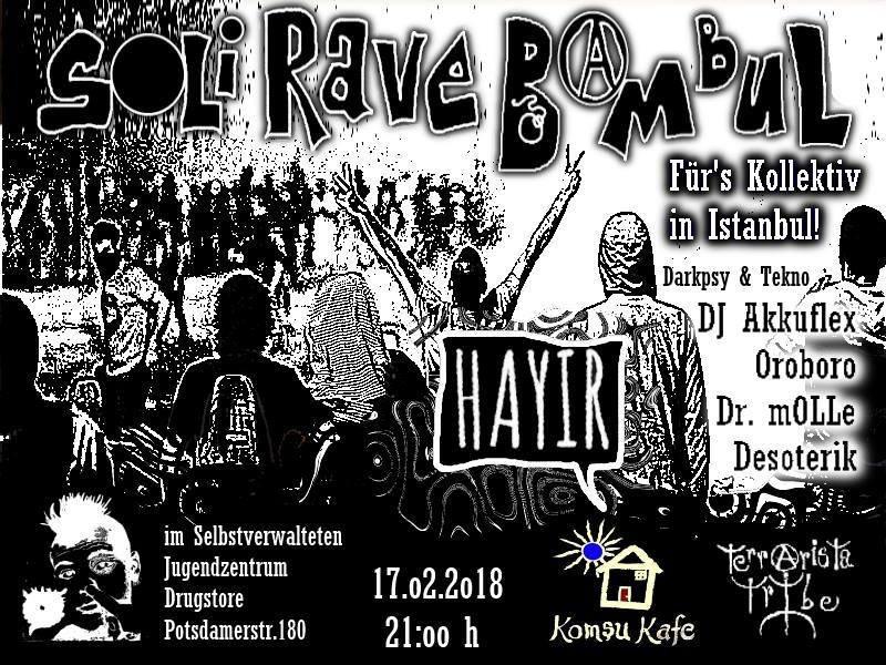 Party Flyer SoliRaveBambul 17 Feb '18, 21:00