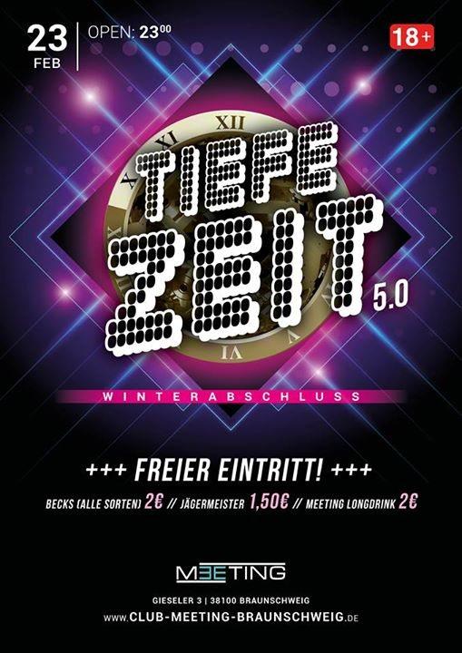 Party Flyer Tiefe Zeit 5.0 > Winterabschluss Tanz < 23 Feb '18, 23:00