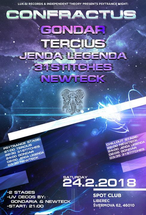 Party Flyer Confractus vol.2 // Spot Club // Psytrance sobota 24 Feb '18, 21:00
