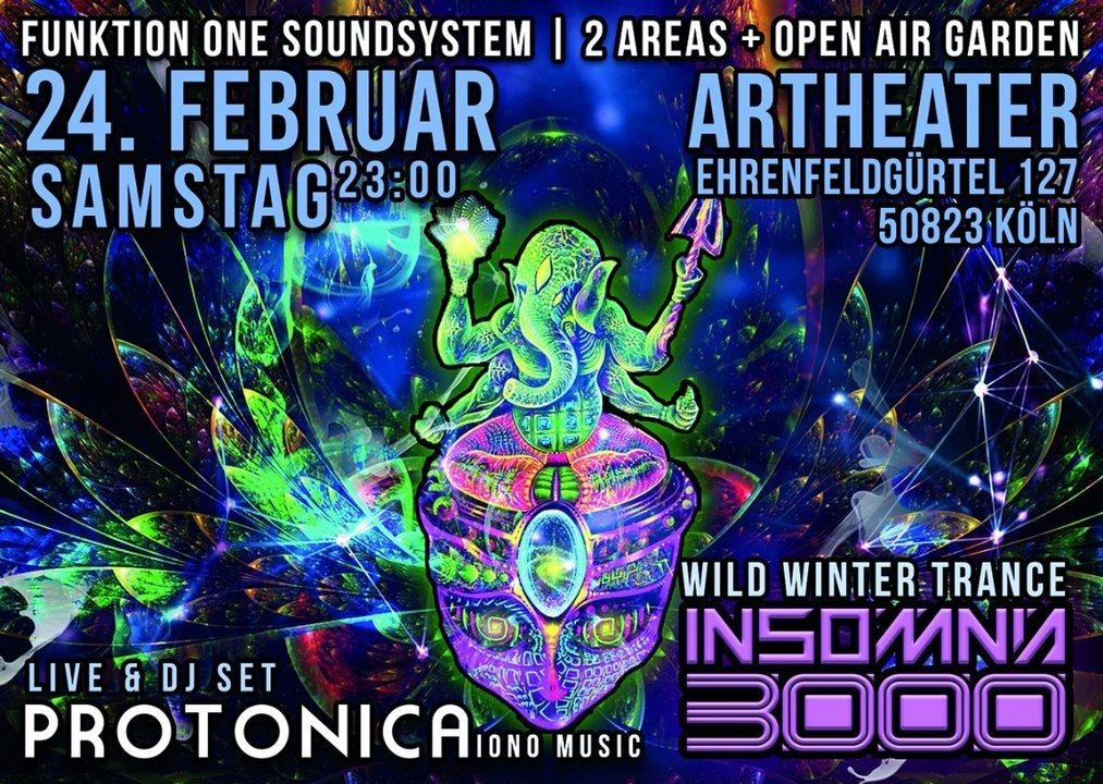 Insomnia 3000 / Wild Winter Dance-Protonica Live / Funktion One 24 Feb '18, 23:00