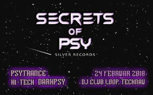 Party Flyer Secrets Of Psy 24 Feb '18, 21:00