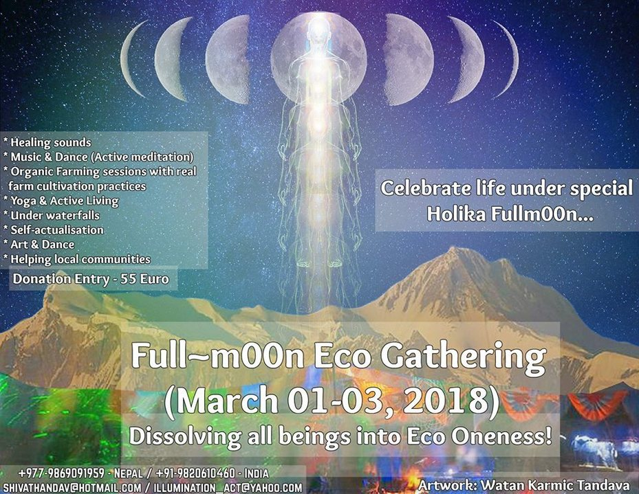 Party Flyer Full~m00n Eco Gathering 1 Mar '18, 05:00