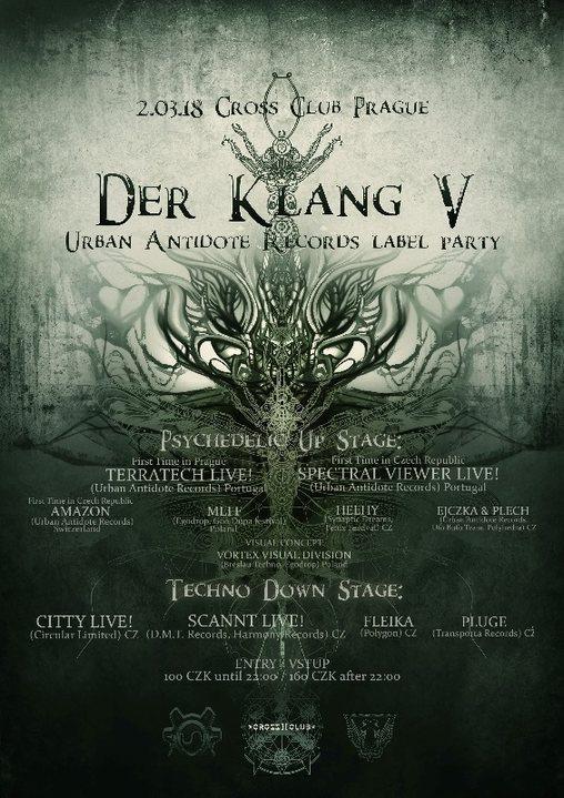 Party Flyer Der Klang 5 // Urban Antidote Label Night Psytrance&Techno Party 2 Mar '18, 21:00