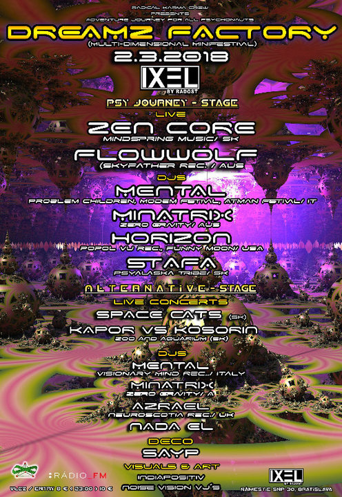 Party Flyer Dreamz Factory 2 Mar '18, 20:00