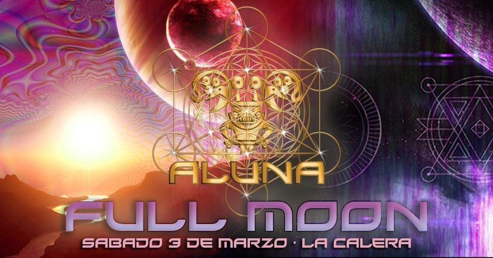Party Flyer ALUNA FULL MOON 3 Mar '18, 13:00