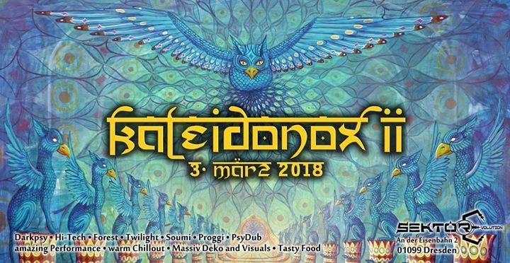 Party Flyer Kaleidonox II 3 Mar '18, 23:00