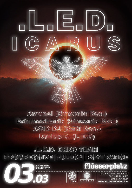 Party Flyer LED - ICARUS 3 Mar '18, 22:00