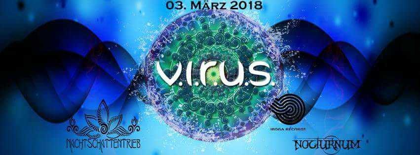 Party Flyer V.I.R.U.S. MEETS SCHLAFLOS #ANIMATO #BANEL#IBOGA# 3 Mar '18, 22:00