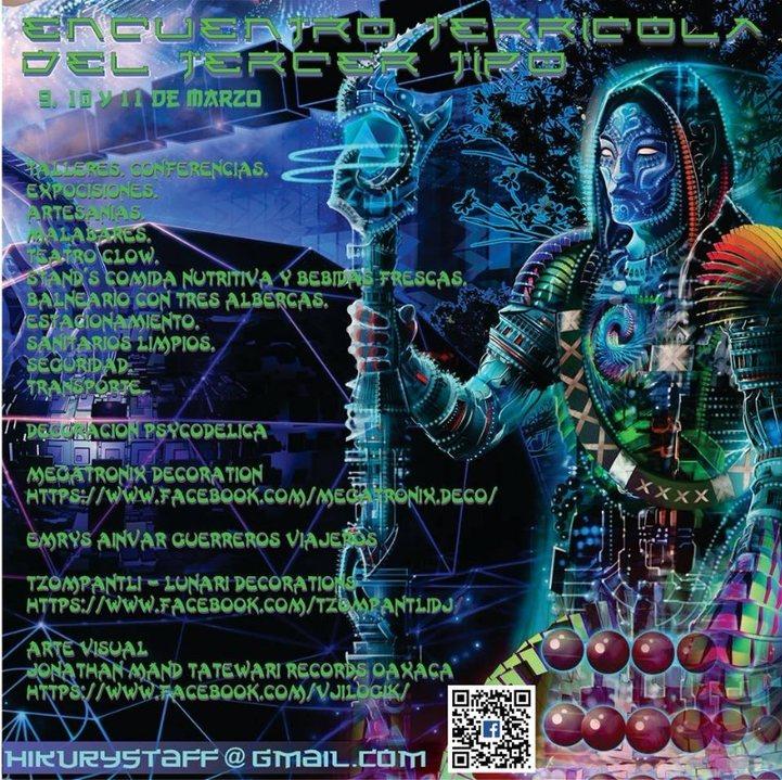 Party Flyer Encuentro terricola del tercer tipo. 9 Mar '18, 00:00