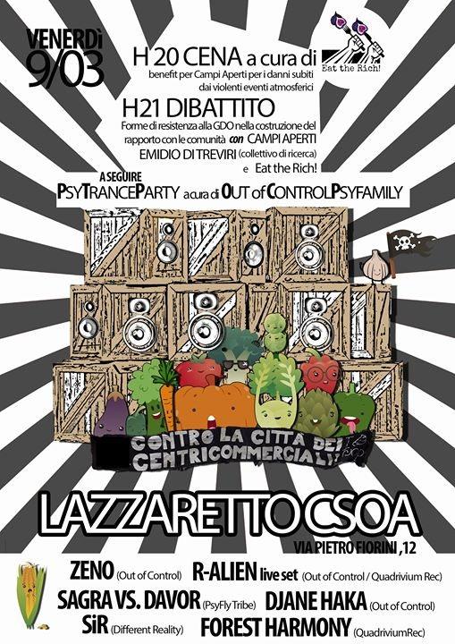 Party Flyer Forme Di Resistenza Alla GDO- PsyTrance Benefit Campi Aperti 9 Mar '18, 20:00