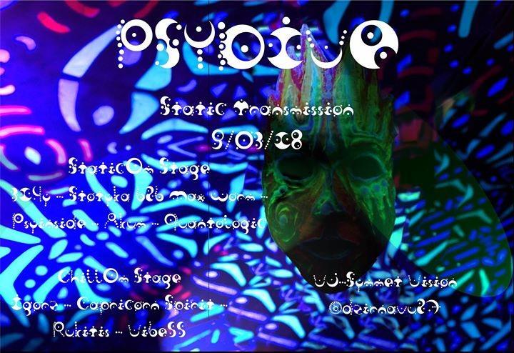 Party Flyer PsyDive : Static Transmission ॐ 9 Mar '18, 21:00