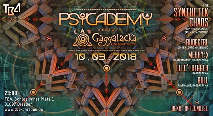 Party Flyer Psycademy meets Gaggalacka 10 Mar '18, 23:00