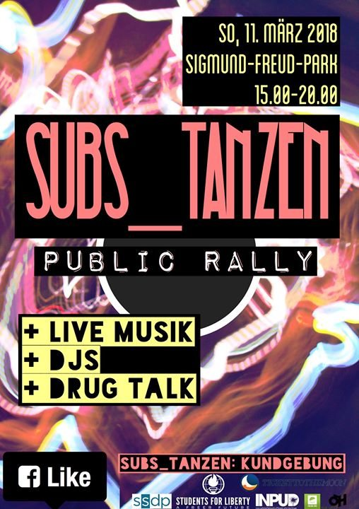 Party Flyer Subs_Tanzen: Kundgebung 11 Mar '18, 15:00