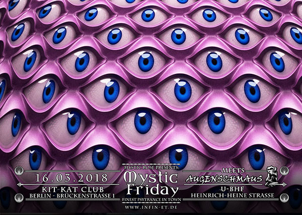 Party Flyer Mystic Friday meets Augenschmaus + Spacetribe 16 Mar '18, 23:00