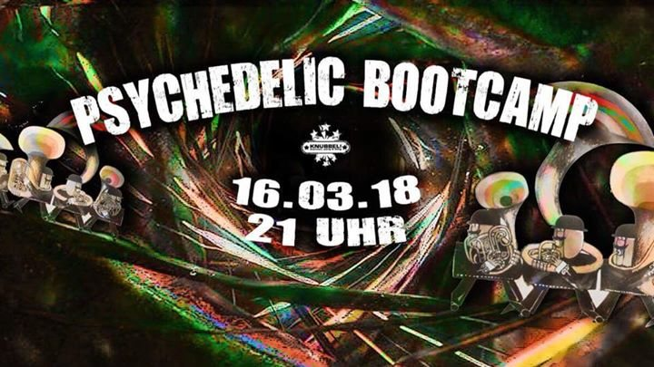 Party Flyer ॐ Psychedelic Bootcamp ॐ 16 Mar '18, 21:00