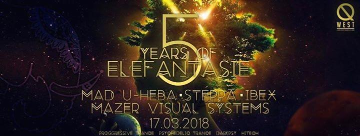 Party Flyer 5 Years of Elefantasie 17 Mar '18, 22:00