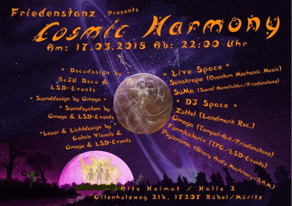 Party Flyer Cosmic Harmony 17 Mar '18, 22:00