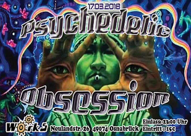 Party Flyer Psychedelic Obsession 17 Mar '18, 23:00