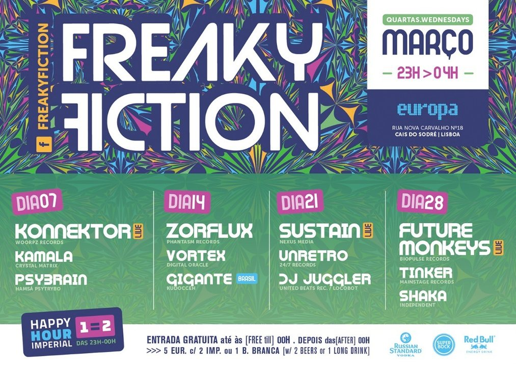 Party Flyer FREAKY FICTION 21 Mar '18, 23:00