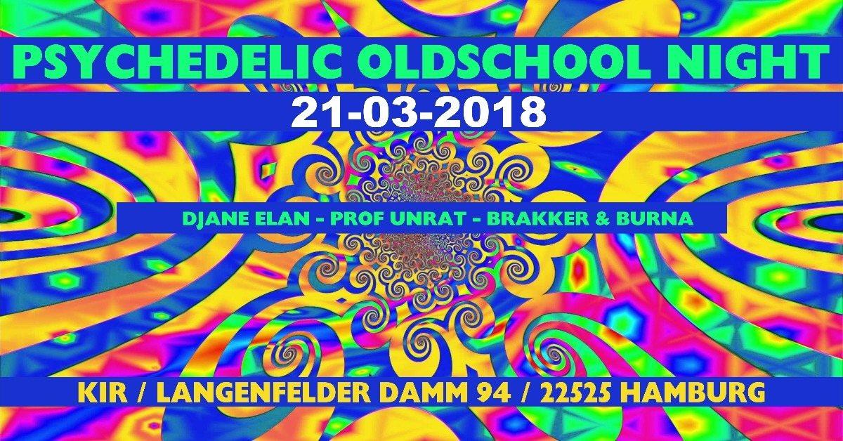 Party Flyer ॐ Psychedelic Oldschool Night ॐ 21 Mar '18, 21:00