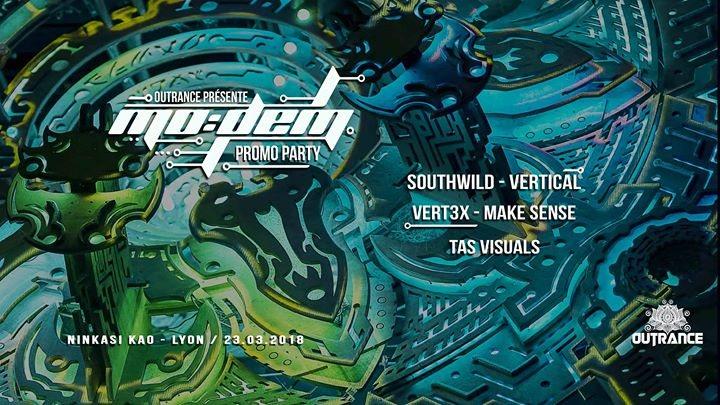 Party Flyer MoDem Festival Promo Party • Outrance 23 Mar '18, 23:30