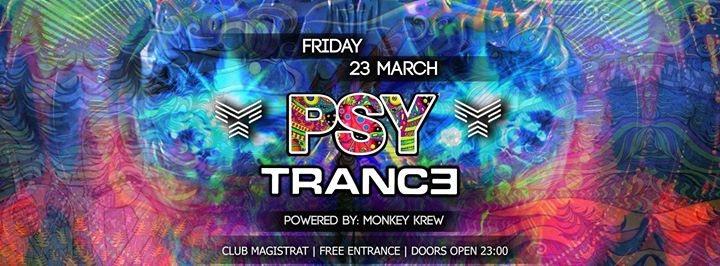 """Party Flyer ☆Monkey Krew☆ presents: """"Psytrance"""" 23 Mar '18, 23:00"""