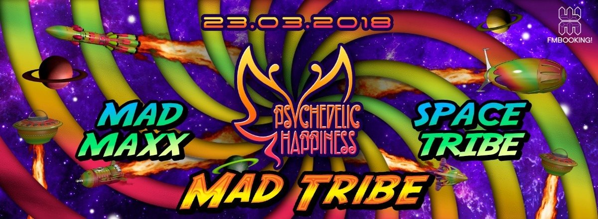 Party Flyer Psychedelic Happiness - The big opening of the Season 23 Mar '18, 22:00