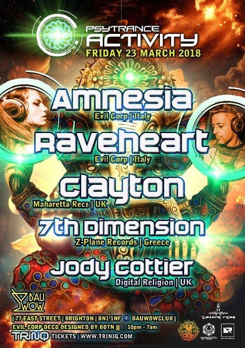 Party Flyer Psytrance Activity UK Launch at Bau Wow 23 Mar '18, 22:00