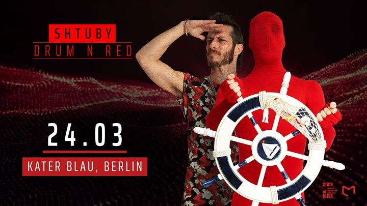 Party Flyer SHTUBY / Drum & Red Kater Blau / 24.3 24 Mar '18, 23:30