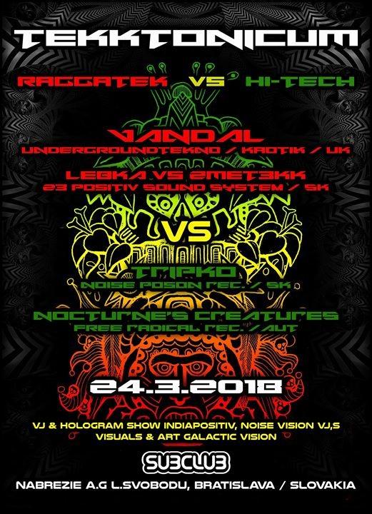Party Flyer TekkTonicum : Vandal (UK) - Marec24 - Subclub 24 Mar '18, 22:00